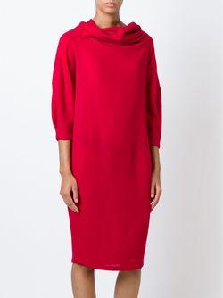 Драпированное Платье Sybilla                                                                                                              красный цвет