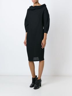 Драпированное Платье Sybilla                                                                                                              черный цвет