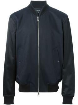 Куртка-Бомбер С Контрастными Рукавами Paul Smith                                                                                                              синий цвет