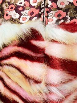 Парчовое Пальто С Меховой Панелью GIAMBA                                                                                                              многоцветный цвет
