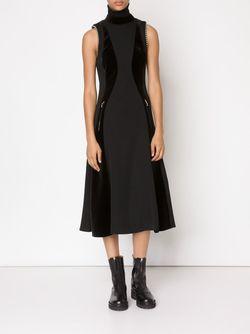 Расклешенное Платье С Панельным Дизайном Alexander Wang                                                                                                              черный цвет