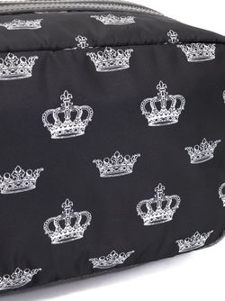 Crown Print Wash Bag Dolce & Gabbana                                                                                                              черный цвет