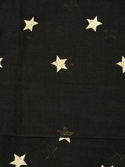 Шарф С Вышитыми Звездами Saint Laurent                                                                                                              черный цвет
