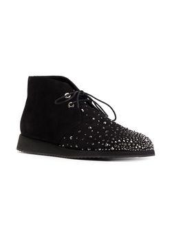 Декорированные Ботинки-Дезерты Giuseppe Zanotti Design                                                                                                              черный цвет