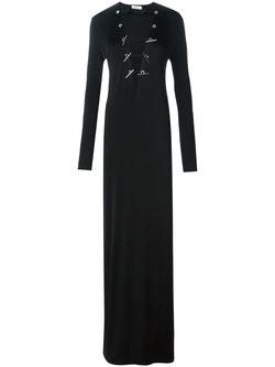Облегающее Платье C V-Образным Вырезом Mugler                                                                                                              черный цвет