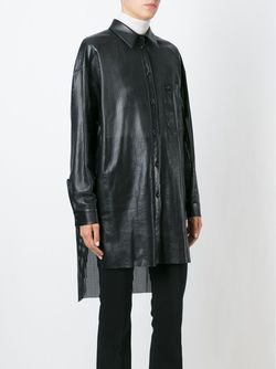 Laser Cut Shirt Jacket Drome                                                                                                              черный цвет