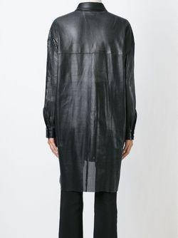 Laser Cut Shirt Jacket Drome                                                                                                              чёрный цвет