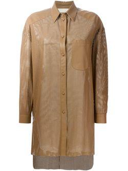 Куртка-Рубашка С Лазерной Перфорацией Drome                                                                                                              коричневый цвет