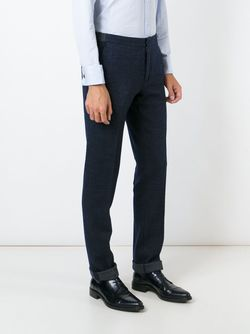 Slim Fit Trousers Incotex                                                                                                              синий цвет