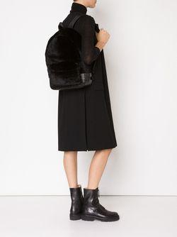 Рюкзак С Меховой Отделкой Alexander Wang                                                                                                              чёрный цвет