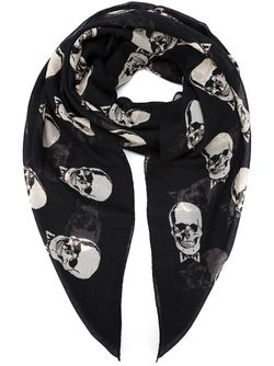 Шарф С Черепами Saint Laurent                                                                                                              чёрный цвет
