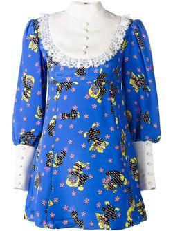 Платье С Нагрудником Jeremy Scott                                                                                                              синий цвет