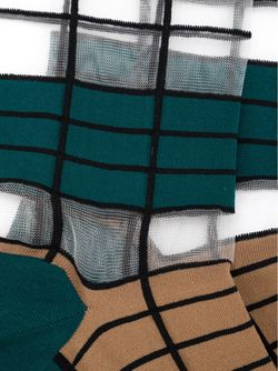 Long Striped Socks Issey Miyake                                                                                                              зелёный цвет