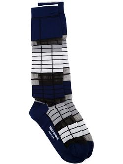 Long Striped Socks Issey Miyake                                                                                                              синий цвет