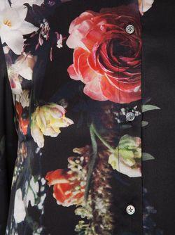Рубашка С Цветочным Принтом Adam Lippes                                                                                                              чёрный цвет