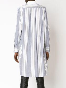 Платье-Рубашка В Полоску Sacai                                                                                                              синий цвет
