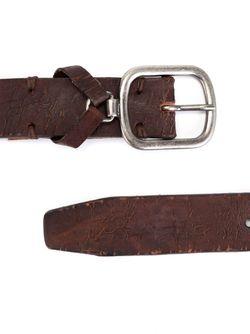 Ремень С Пряжкой И Потертой Отделкой Dondup                                                                                                              коричневый цвет