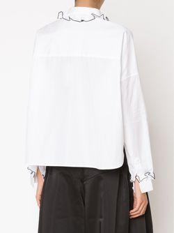 Рубашка С Оборками На Воротнике И Манжетах Comeforbreakfast                                                                                                              белый цвет