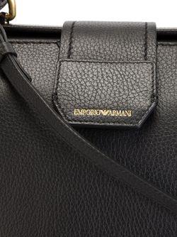 Сумка-Тоут С Логотипом Emporio Armani                                                                                                              черный цвет