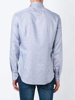 Классическая Рубашка Armani Collezioni                                                                                                              синий цвет