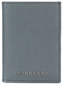 Embossed Logo Wallet Burberry                                                                                                              серый цвет