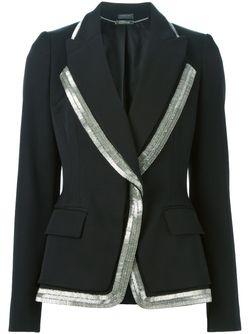 Блейзер С Декорированной Окантовкой Alexander McQueen                                                                                                              чёрный цвет
