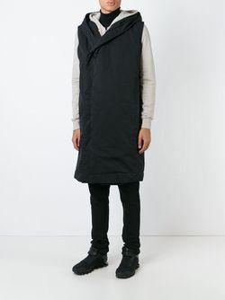 Пальто Без Рукавов С Капюшоном RICK OWENS DRKSHDW                                                                                                              чёрный цвет