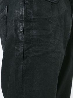 Укороченные Вощеные Джинсы RICK OWENS DRKSHDW                                                                                                              черный цвет