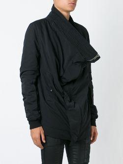 Куртка Со Смещенной Застежкой RICK OWENS DRKSHDW                                                                                                              чёрный цвет