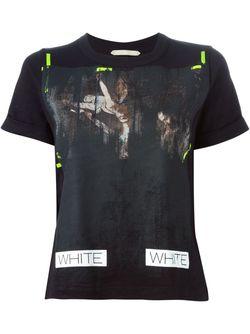 Футболка С Принтом OFF-WHITE                                                                                                              чёрный цвет