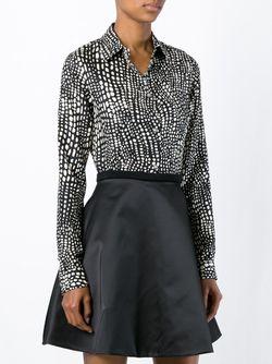 Рубашка С Пятнистым Принтом Fausto Puglisi                                                                                                              черный цвет