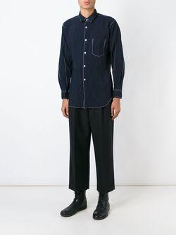Рубашка С Нагрудным Карманом Comme Des Garcons                                                                                                              синий цвет