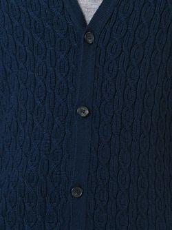 Кардиган Вязки Косичкой Pringle Of Scotland                                                                                                              синий цвет