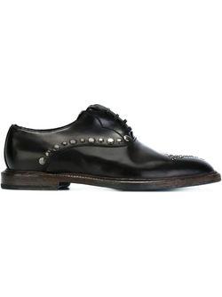 Studded Oxford Shoes Dolce & Gabbana                                                                                                              чёрный цвет
