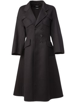 Cinched Waist Coat Yang Li                                                                                                              чёрный цвет