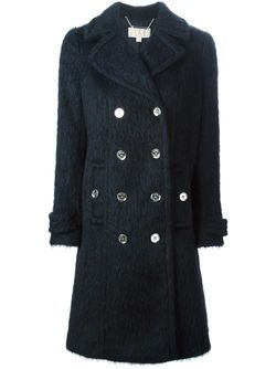 Double Breasted Coat Michael Michael Kors                                                                                                              синий цвет