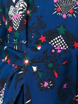 Топ С Принтом MSGM                                                                                                              синий цвет