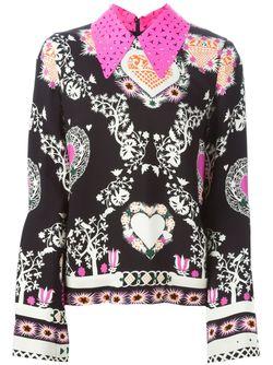 Floral Collar Printed Blouse MSGM                                                                                                              черный цвет