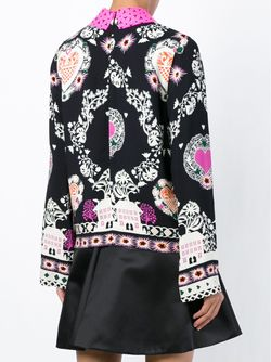 Collar Printed Blouse MSGM                                                                                                              чёрный цвет