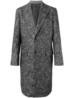 Однобортное Твидовое Пальто Dolce & Gabbana                                                                                                              черный цвет