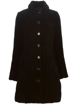 Бархатное Однобортное Пальто Aspesi                                                                                                              чёрный цвет