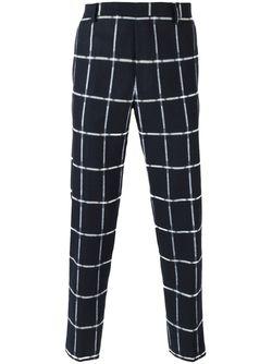 Grid Print Trousers MSGM                                                                                                              синий цвет