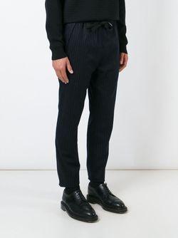 Pinstriped Drawstring Fastening Trousers CMMN SWDN                                                                                                              синий цвет