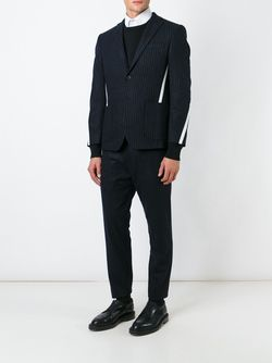 Pinstriped Grosgrain Band Blazer CMMN SWDN                                                                                                              синий цвет
