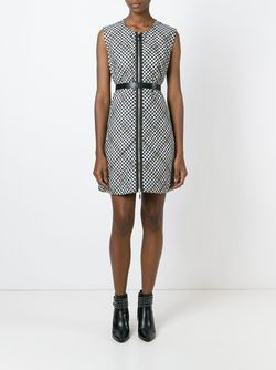 Check Print Zipped Dress Moncler Gamme Rouge                                                                                                              белый цвет