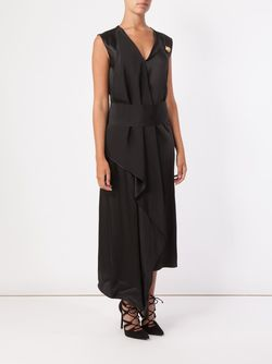 Draped V-Neck Dress Maison Rabih Kayrouz                                                                                                              чёрный цвет