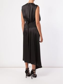 Draped V-Neck Dress Maison Rabih Kayrouz                                                                                                              черный цвет