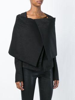 Приталенная Куртка С Объемным Воротником Gareth Pugh                                                                                                              черный цвет