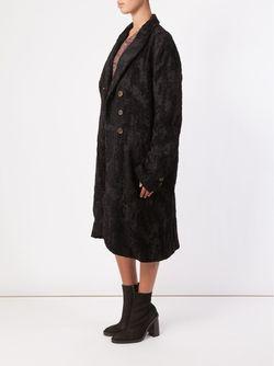 Brocade Double Breasted Coat UMA WANG                                                                                                              черный цвет