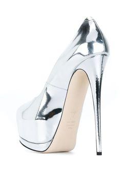 Туфли На Платформе Sharon Giuseppe Zanotti Design                                                                                                              серебристый цвет